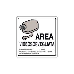 AREA VIDEOSORVEGLIATA 200x200 mm