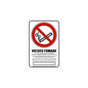 VIETATO FUMARE NORMA 120x180 mm