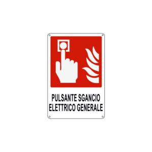 PULSANTE SGANCIO ELETTRICO GENERALE 120x180 mm