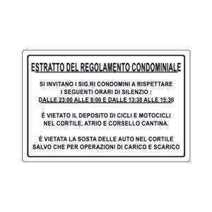 ESTRATTO DEL REGOLAMENTO CONDOMINIALE 300x200 mm