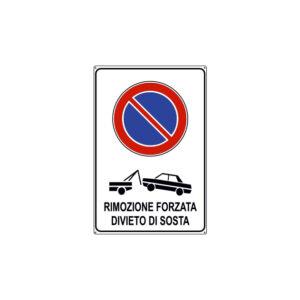 RIMOZIONE FORZATA DIVIETO DI SOSTA 200x300 mm