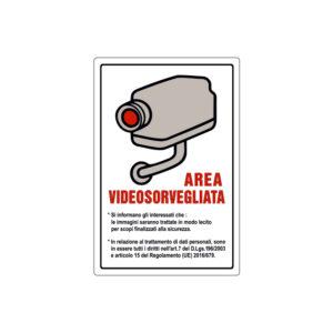 AREA VIDEOSORVEGLIATA 120x180 mm