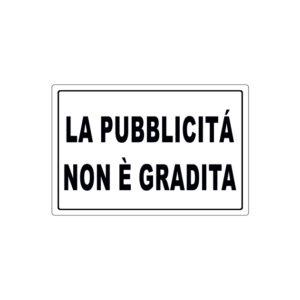 28622E LA PUBBLICITÀ NON È GRADITA
