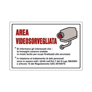 AREA VIDEOSORVEGLIATA 300x200 mm