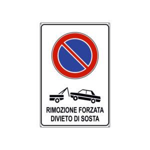 RIMOZIONE FORZATA DIVIETO DI SOSTA 300x450 mm