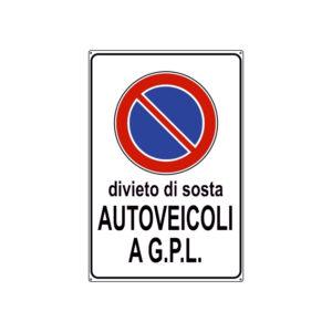 DIVIETO DI SOSTA AUTOVEICOLI A G.P.L. 300x450 mm
