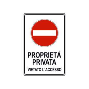 PROPRIETÀ PRIVATA VIETATO L'ACCESSO 300x450 mm